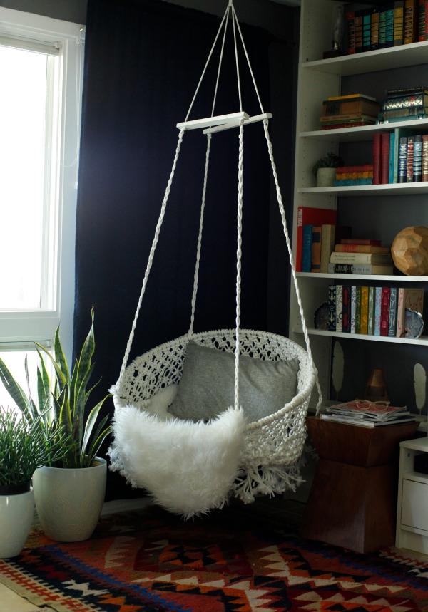 diy bedroom hammock chair antique cane bottom rocking hanging macrame marrakech 2