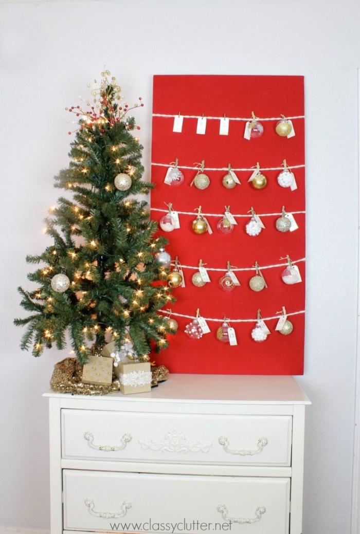 DIY Advent Ornament Tree