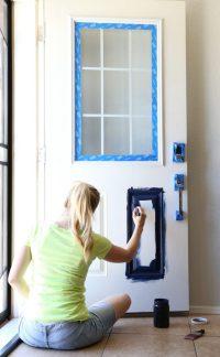 Paint Door & ... Charming How To Paint A Steel Door To ...