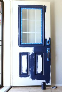 How To Paint A Front Door {Without Removing It} - Classy ...