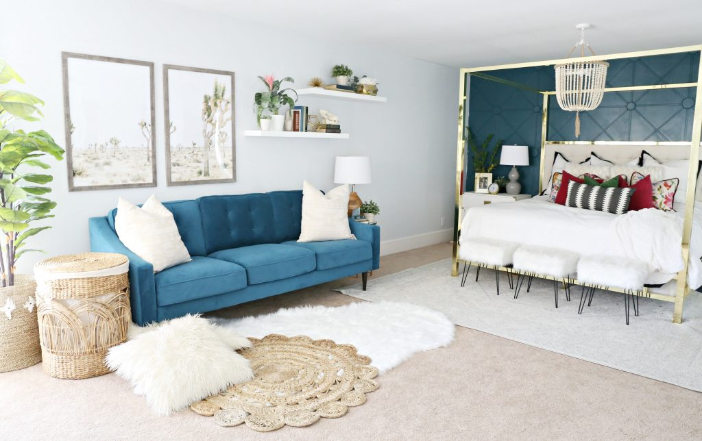 Modern Ranch Reno Master Bedroom Sofa Classy Clutter