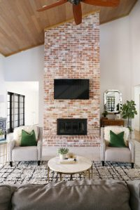 Modern Ranch Reno: How to Re-Grout a Brick Fireplace ...