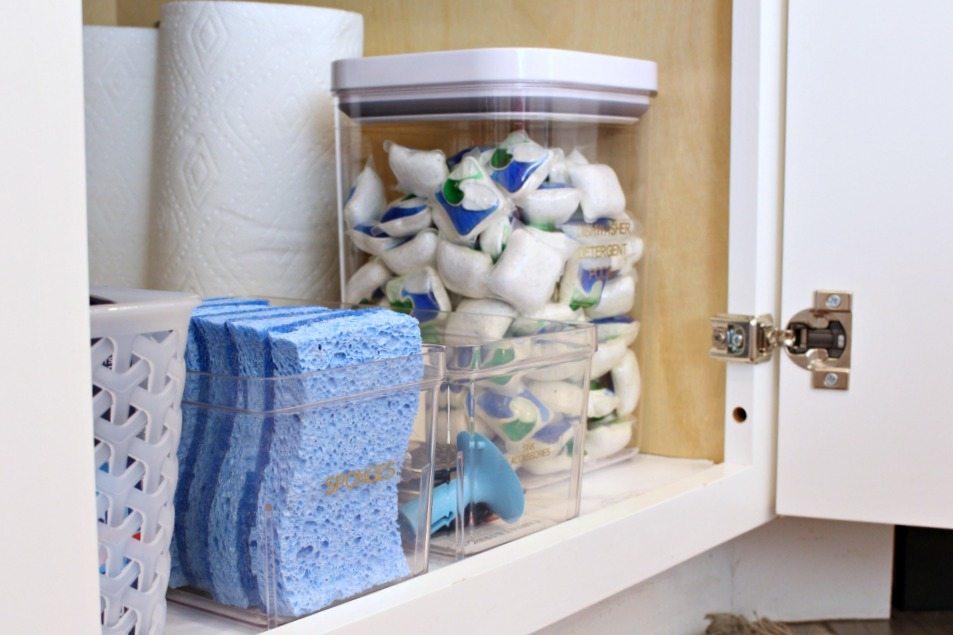 sink kitchen cabinet organization ideas
