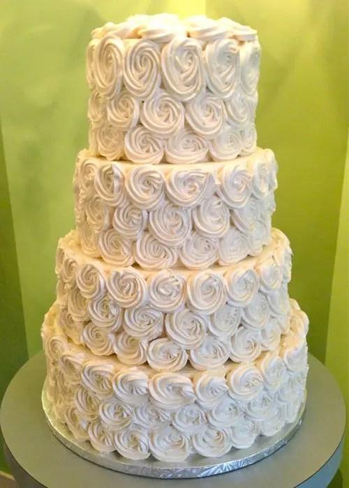 Rosette Wedding Cake – Classy Girl Cupcakes