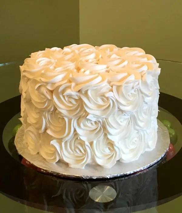 Rosette Layer Cake  Classy Girl Cupcakes