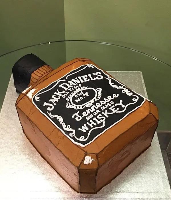 Whiskey Bottle Shaped Cake Classy Girl Cupcakes