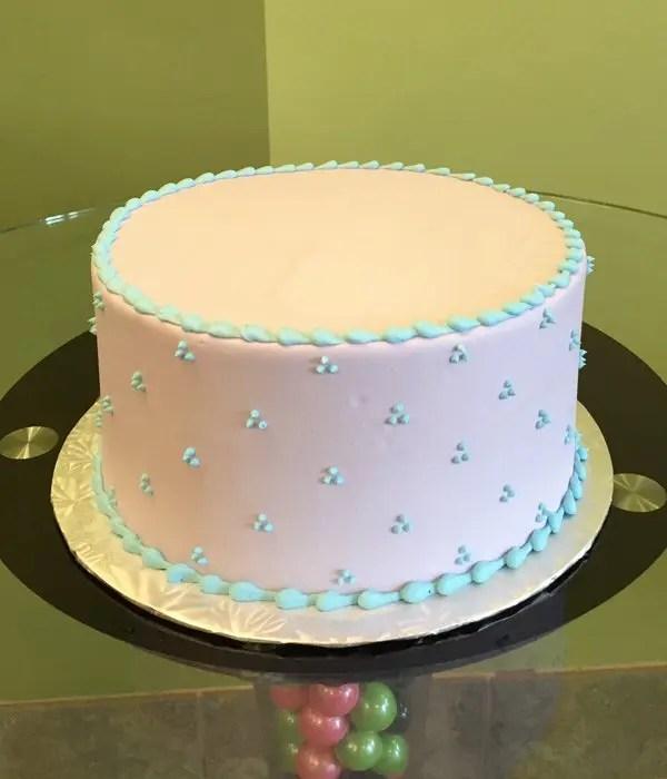 Swiss Dot Layer Cake  Classy Girl Cupcakes