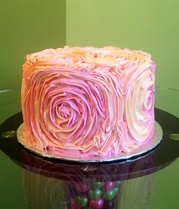 Giant Rosette Layer Cake – Classy Girl Cupcakes