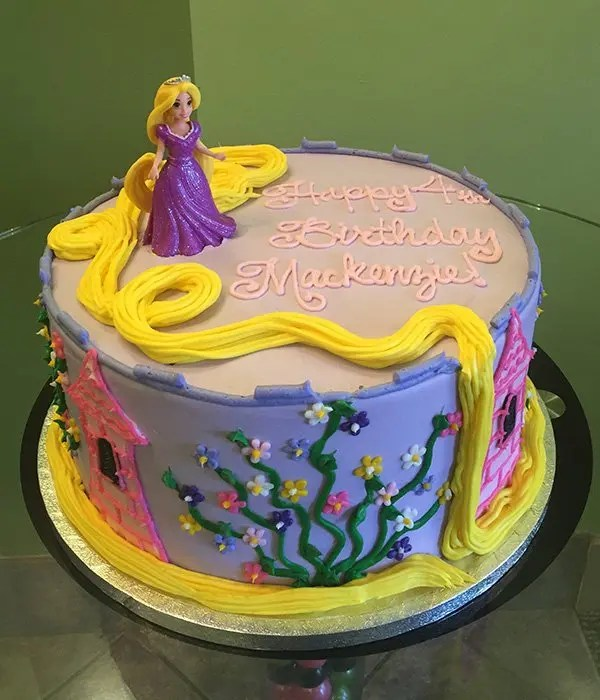 Rapunzel Layer Cake  Classy Girl Cupcakes