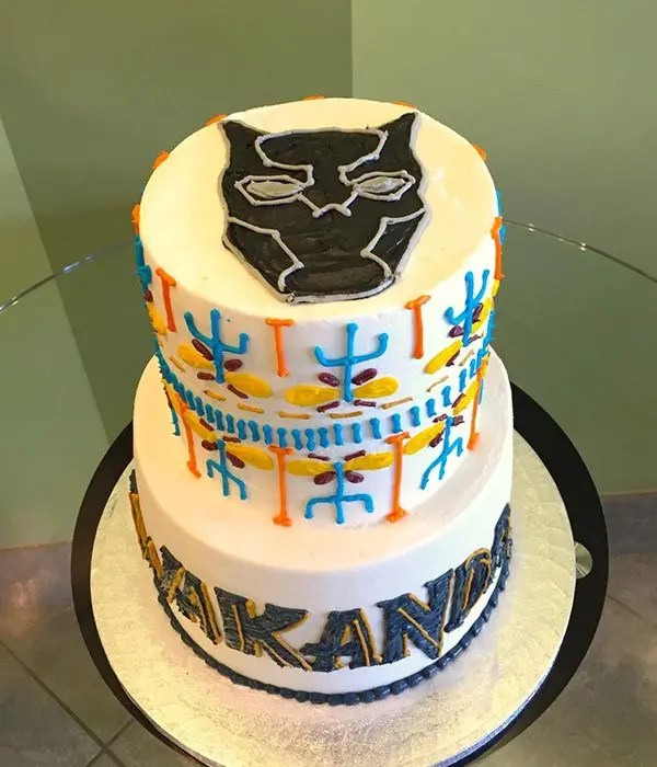 Black Panther Tribal Tiered Cake Classy Girl Cupcakes