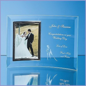 Engraved Glass Photograph Frames