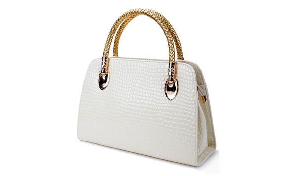 Sammy Dress: Elegant Women's Tote Bag With Crocodile Print and PU Leather Design