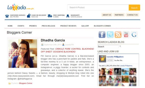 Press: Featured at Lazada PH | Website