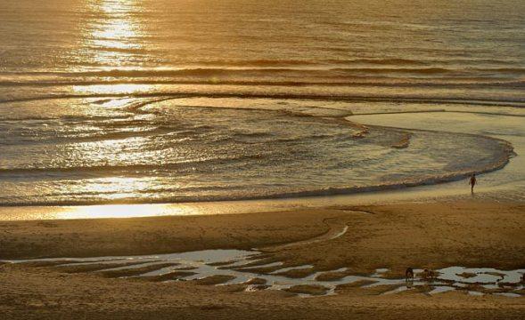 Baïne au coucher du soleil