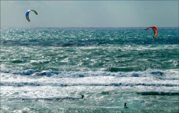 Beau temps ... pour le kite-surf