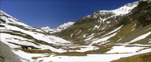 Parc de la Sassière, vue du fond ( alt. 2600 m )