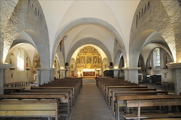Eglise de Tignes 1800, copie de l'église engloutie en 1952