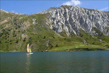 L'été sur le lac de Tignes