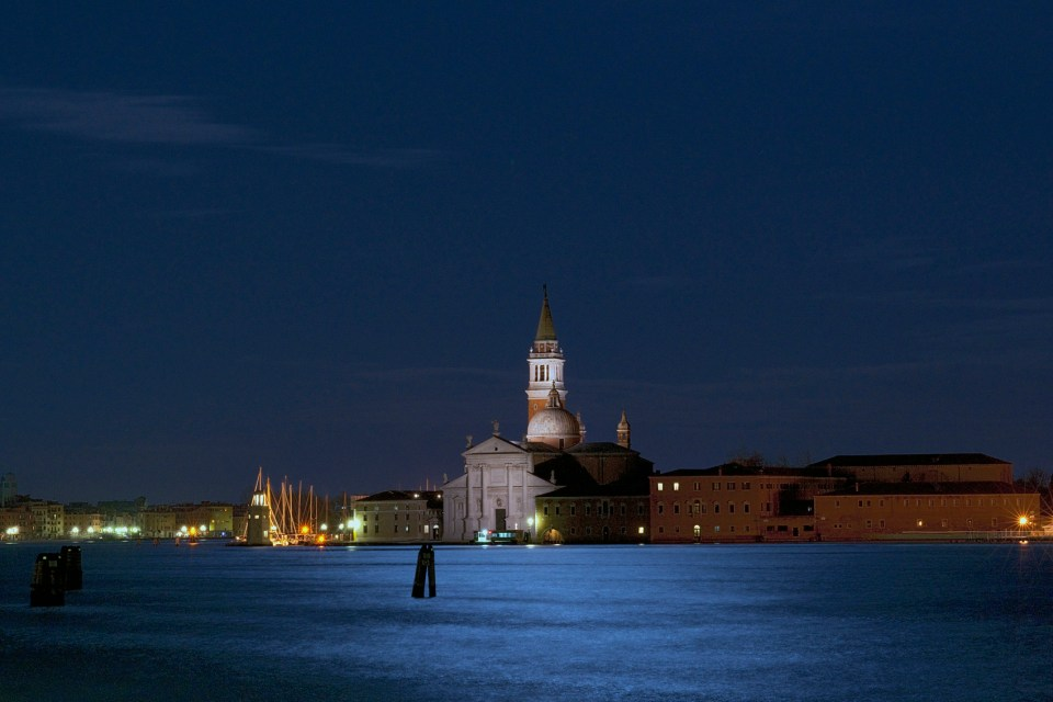 Claude C Varieras - Moonlight over San Giorgio.