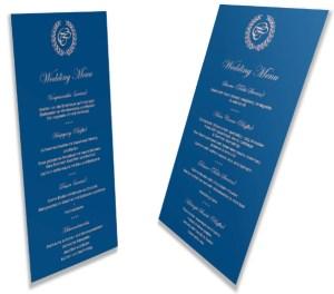 Design von Flyern für Hochzeitsmenü und Trauablauf von Claudia Link Fotografie und Grafikdesign Nürnberg Erlangen Roth