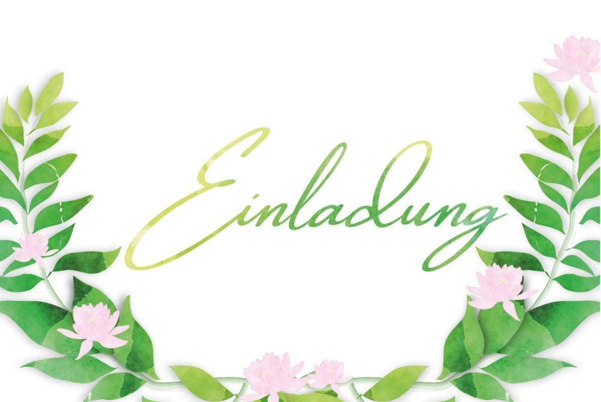 Einladungskarte zur Sommerparty in Aquarell Optik von Claudia Link Fotografie und Grafikdesign aus Nürnberg Erlangen Roth Vorschaubild