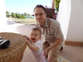 Laura Maria mit Papa Mathias