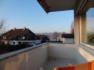 Blick von unserem Balkon auf den Zürich See