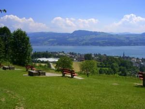 Feuerstellen mit Aussicht bei der Risi (Panoramaweg Feldbach - Männedorf)
