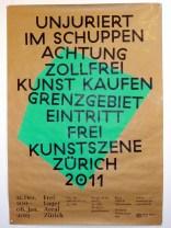 Kunstschaffende im Zürcher Zollfreilager 2012