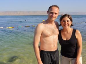 Nach dem Baden im See Genezareth