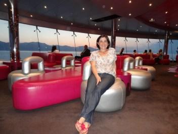 Claudia auf dem Schiff