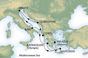 Unsere Route durch das östliche Mittelmeer