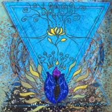 """healing the sacred flow"" painting by Claudia Dose"