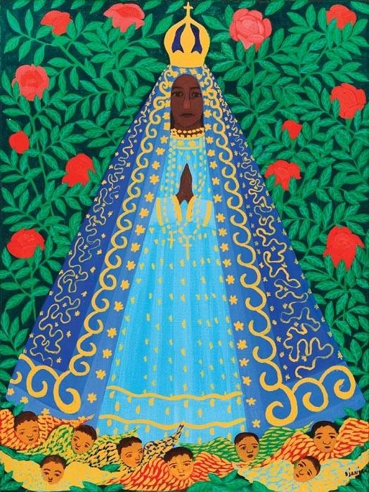 Imagem da Nossa Senhora Aparecida, pintura de Djanira.