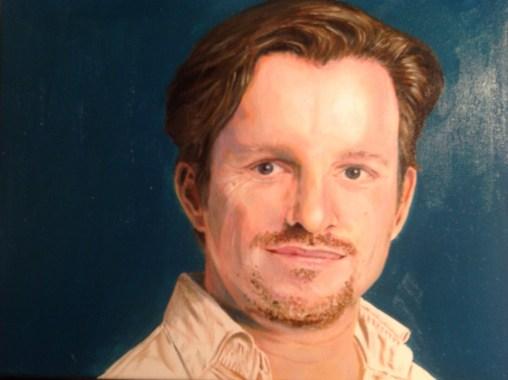Portrait. Öl auf Leinwand, 40 x 30 cm, 2016