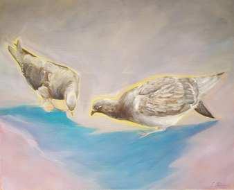 Paar Nr. 1. Öl auf Leinwand, 60 x 50 cm, 2018