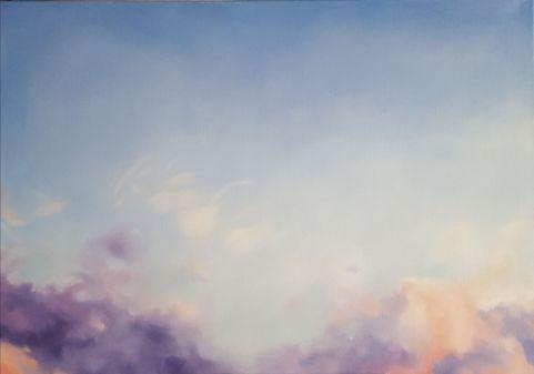 Pink sky. Öl auf Leinwand, 100 x 70 cm, 2018