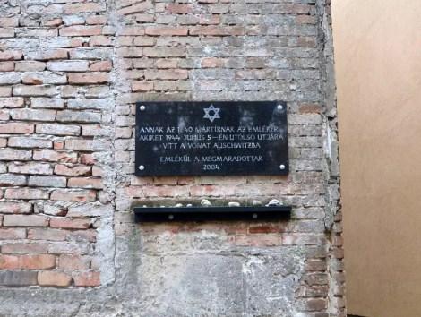 Gedenktafel Synagoge Sopron