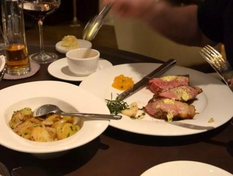 Steak mit Kartoffel Fürstenallee fünf