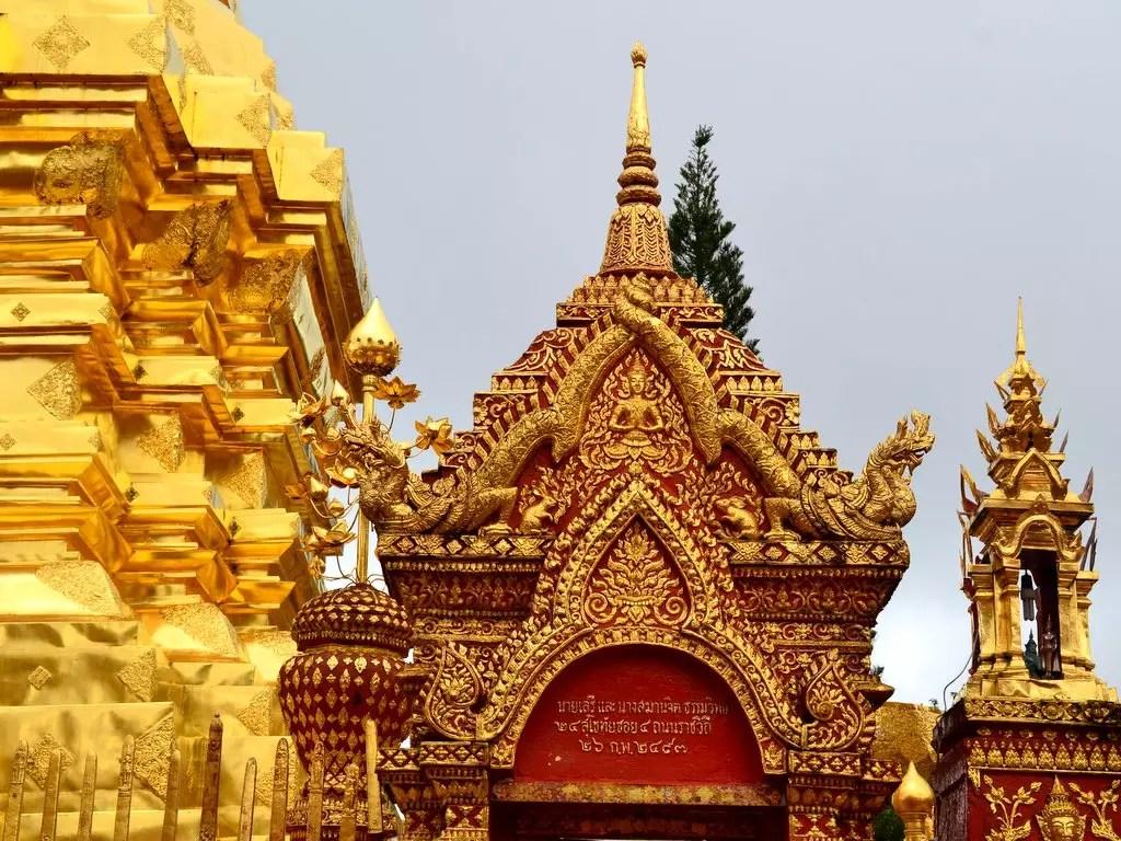 Tempelanlage Wat Doi suthep nördlich von Chiang Mai