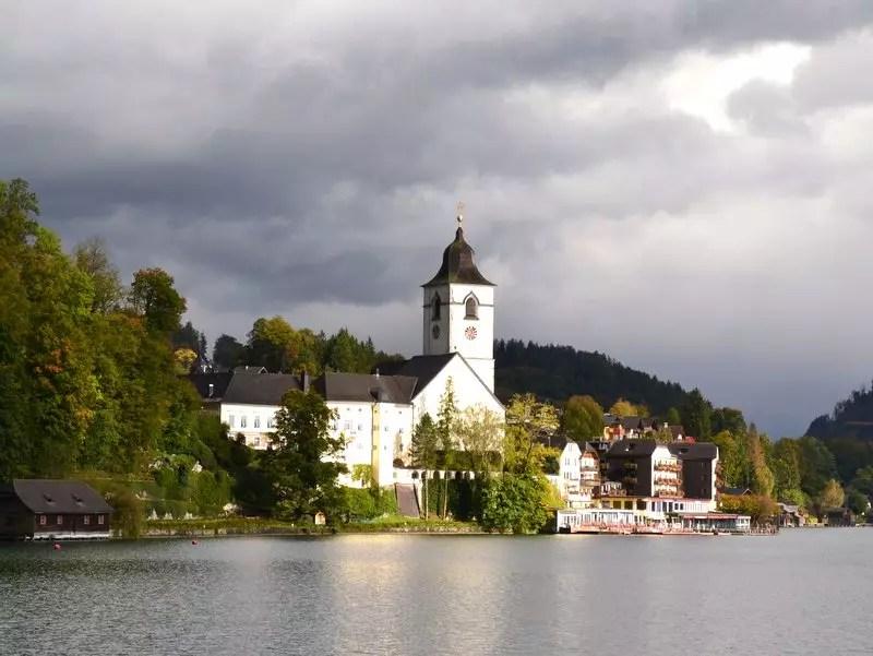 Sankt Wolfgang vom See aus