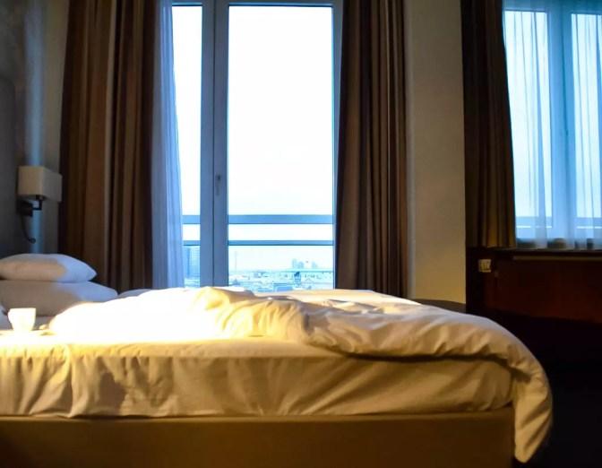 Bett mit blick über Wien