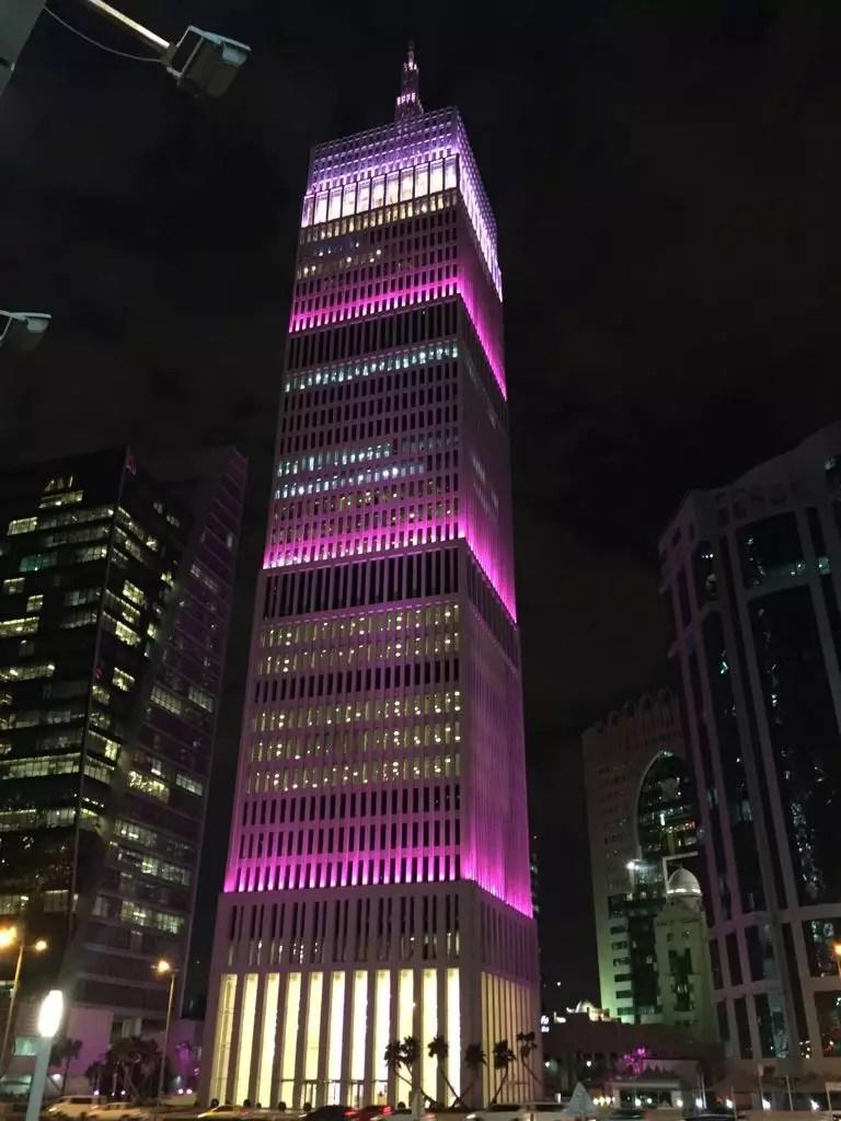 Doha, Katar bei Nacht