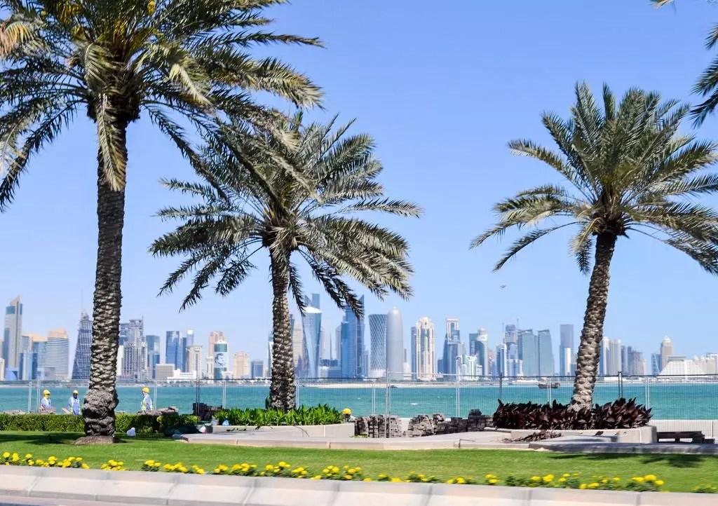 Corniche mit West Bay in doha