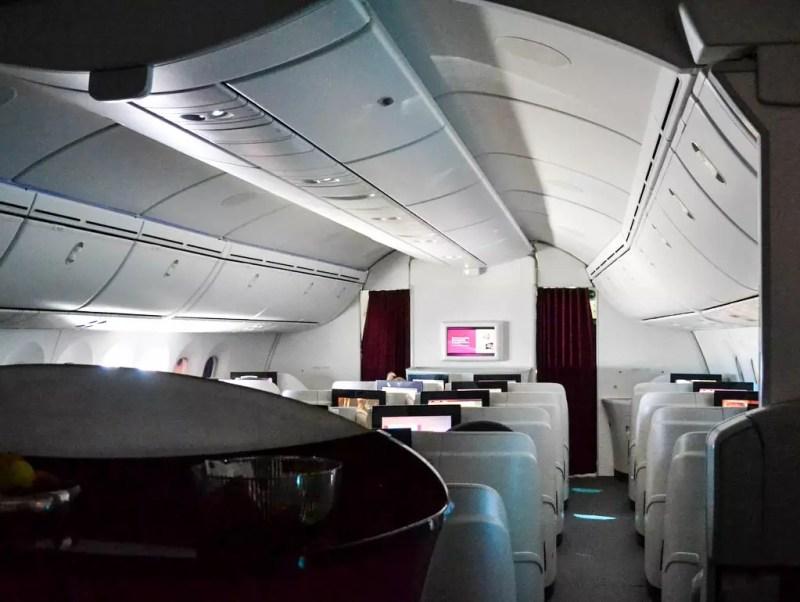 Kabine business Class Qatar Airways