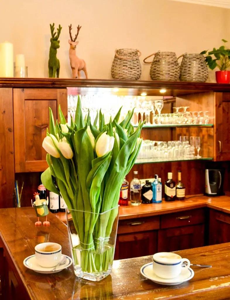 Blumenstraß in der Bar Hotel Markus Sittikus