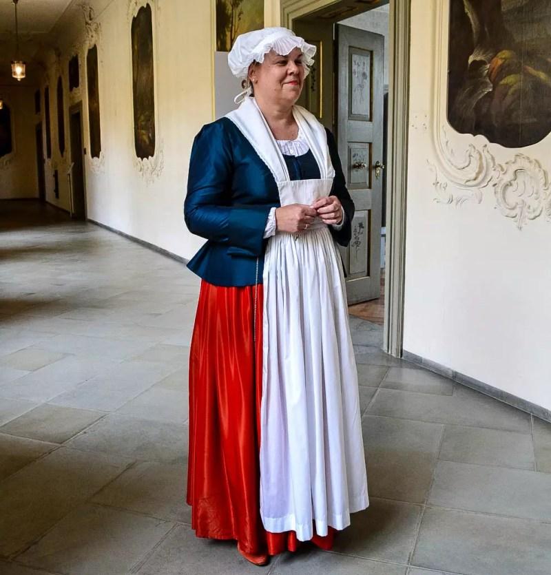 Kammerzofe Anna im Schloss Tettnang