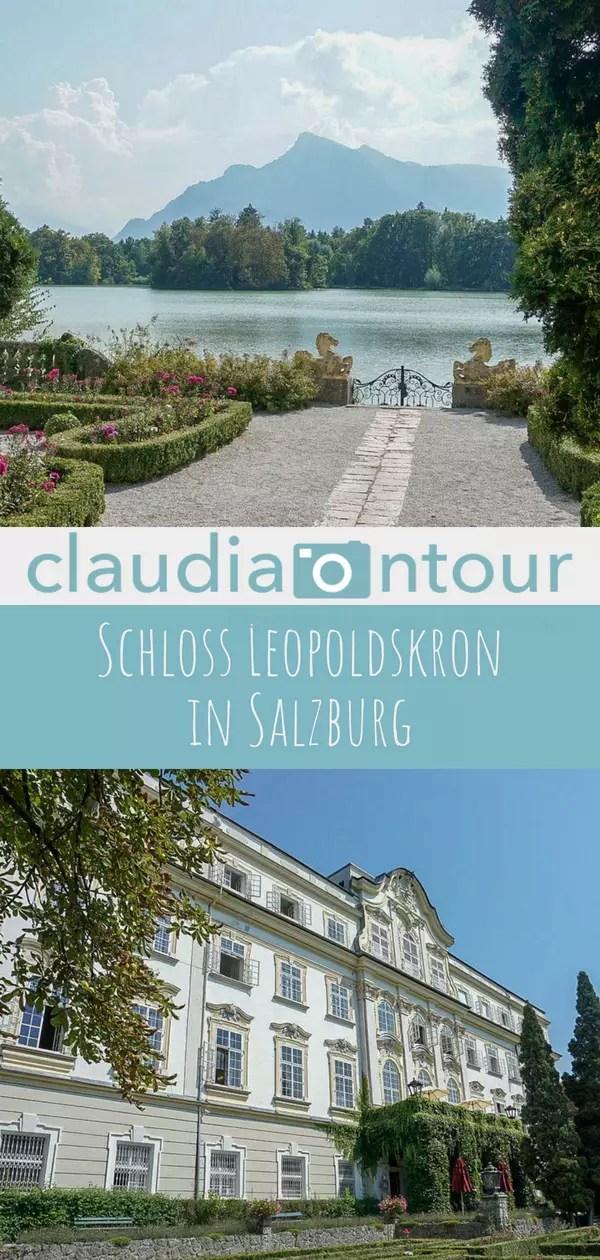 Schloss Leopoldskron vor den toren der Stadt salzburg. Prachtvoller Rokoko Bau mit Park.