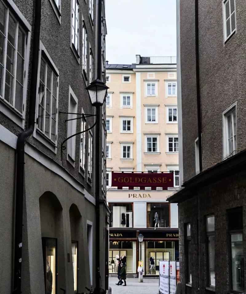 Goldgasse in Salzburg