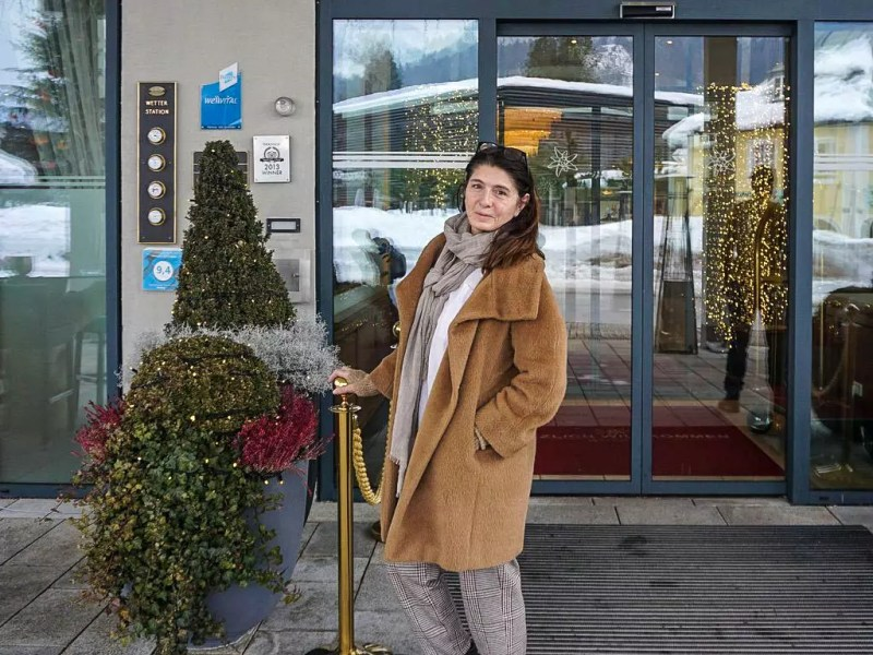 Hoteleingang Edelweiss Berchtesgaden